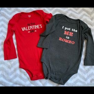 Valentines Day Onesies Bundle, 12 Months EUC